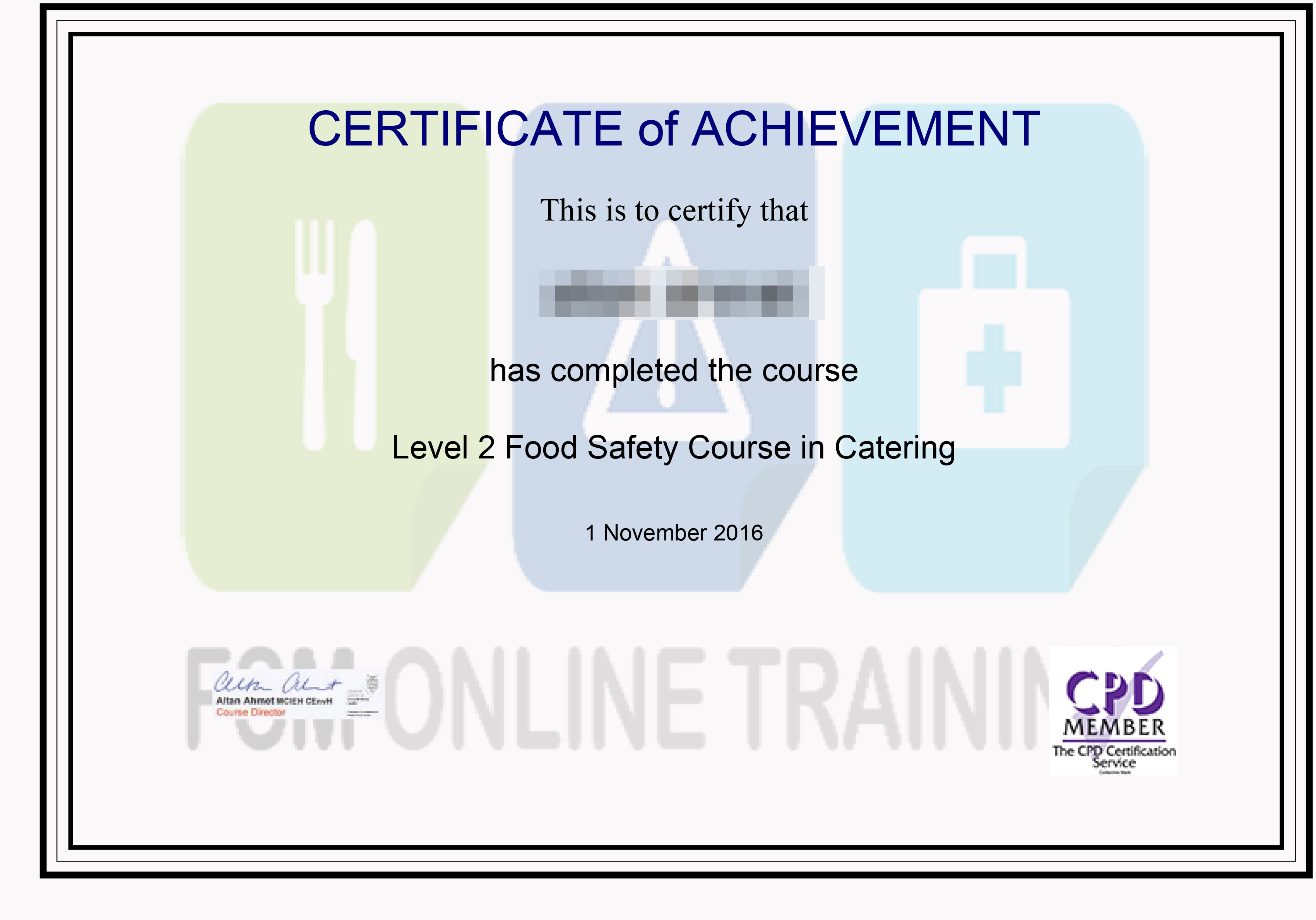 FSM: Food Safety Courses